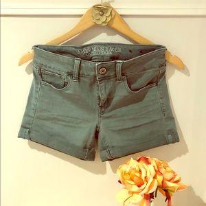 American Eagle Midi Teal/Green Shorts